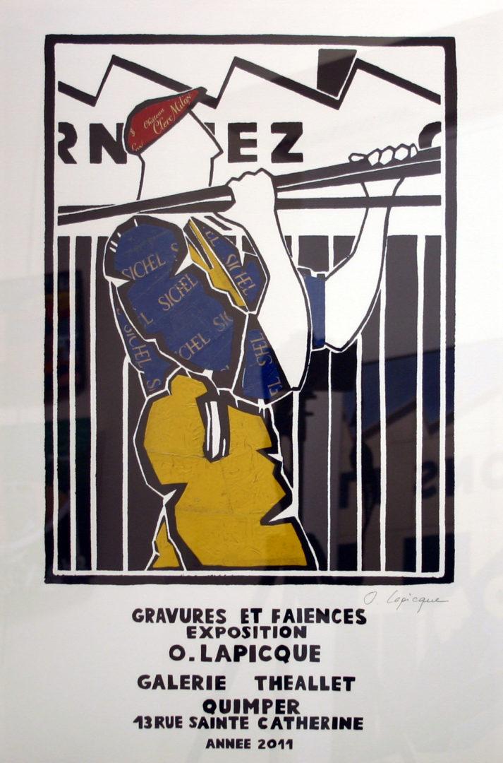 Olivier-Lapicque-Affiche-Galerie-Théallet-2011-rehaussée-de-plombs-étamés