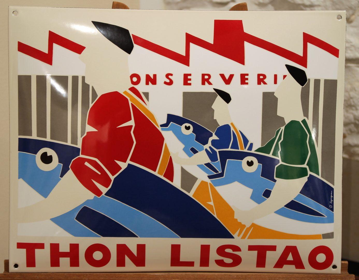 Olivier-Lapicque-Thon-listao-plaque-tôle-émaillée