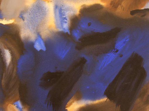 René Quéré – 15 Bleu et noir 32.5×32.5